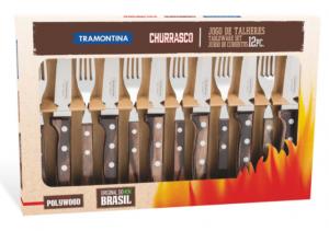 Tramontina Churrasco Biff kniv Mørkebrunt Håndtak